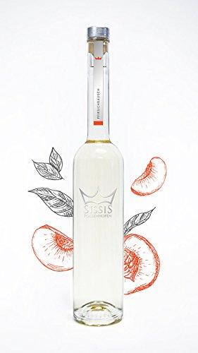 SissiS Pfirsichrausch 34% Vol, 500ml | edler Pfirsichbrand | besonders mild & aromatisch | bester Pfirsich-Brand | intensives Pfirsicharoma aus vollreifen Früchten | Pur oder im Mix verwendbar