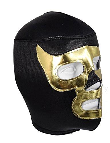Gold Demon Lucha Libre Wrestling Maske (pro-fit) Kostüm Wear – Schwarz/Gold