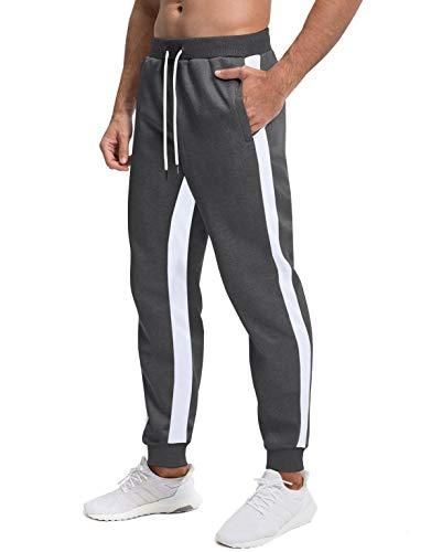 Homme Bas De Survêtement Pantalon De Sport Classic Léger Respirant Pantalon Décontracté Pantalon De Jogging avec Poche Côté D'Été Pantalon Sportif