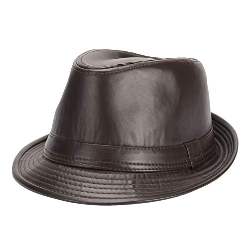 Herrenhut Hut Hut Schwarz Leder Hut Papa Hut Filzhut Herrenhut Mittleren Alters Hut Erwachsene Größe