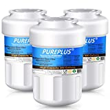 PUREPLUS MWF Water Filter Replacement for GE SmartWater, HDX FMG-1, MWFP, MWFA, PL-100, WFC1201, RWF0600A, PC75009, RWF1060, 197D6321P006, GSE25GSHECSS, Kenmore 469991 Refrigerator Cartridge, 3Pack