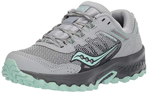 Saucony Women's Versafoam Excursion TR13 Road Running Shoe, Grey/Honeydew, 5.5