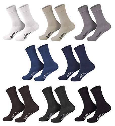 12 Paar weiche Bambus Socken für Sie & Ihn - - (anthra, 35-38)