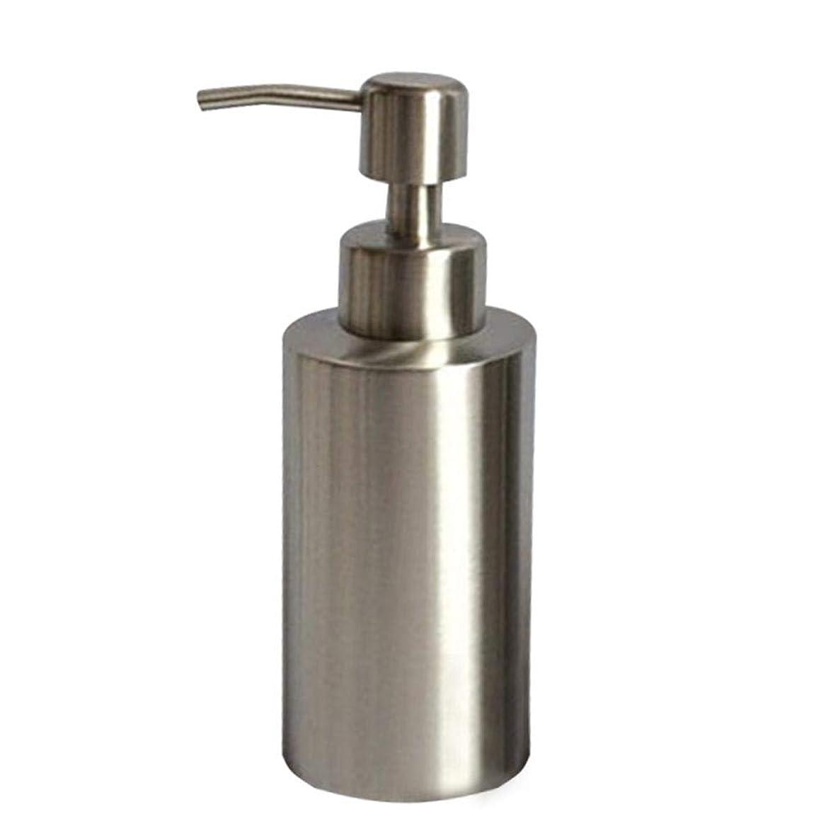 人事知的250ML/350ml/550mlのステンレス鋼ハンドソープボトル ハンドソープ容器 キッチン用びん(高さ15.5cm、直径5.5cm)