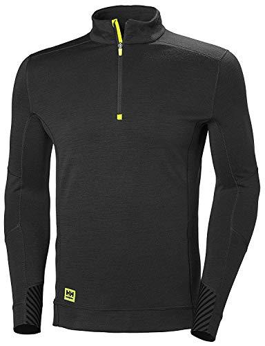 Helly-Hansen Workwear Men's HH LIFA Half Zip, Black - Medium