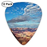 Guitar Picks 12-Pack,Canyonland National Parks Utah Valley Cloudy Blue Sky Redrock Butes Photo Scenery