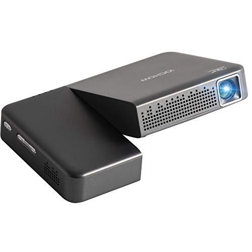 iOCHOW iO2S ミニ プロジェクター 小型 DLP 2000 ルーメン 1080PフルHD対応 1280*720解像度 自動台形補正 パソコン スマホ タブレット ゲーム機 DVDプレイヤーなど接続可能HDMI AUDIOサポート 充電式バッテリー内蔵 日本語取説