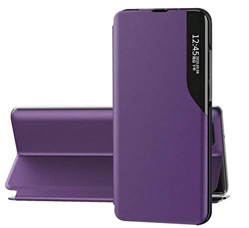 Funda compatible con Samsung A32 5G Funda rígida de piel, tipo libro Samsung A32 5G Case magnética Flip para Samsung A32 5G Cover (violeta, Samsung A32 5G)
