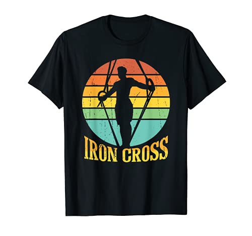 Cool Iron Cross Design for double Rings and Sports Lovers T-Sh