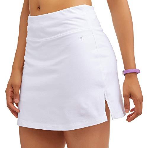 Athletic Works Women's Core Active Dri-Works Skort, White, Large