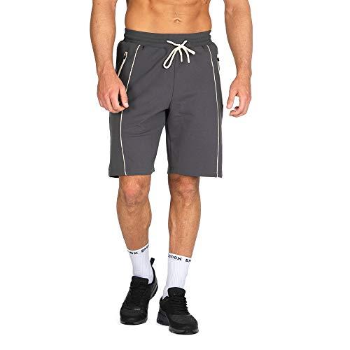 SMILODOX Herren Shorts 'Effort' | Kurze Hosen für Sport Gym Training & Freizeit | Sporthose | Freizeithose - Trainingshose - Sweatpants Jogger - Kurz |, Farbe:Anthrazit, Größe:XXL