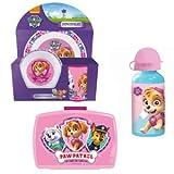 PAW_PATROL Frühstücks-Set für Kinder Kindergeschirr Trinkflasche Brotdose
