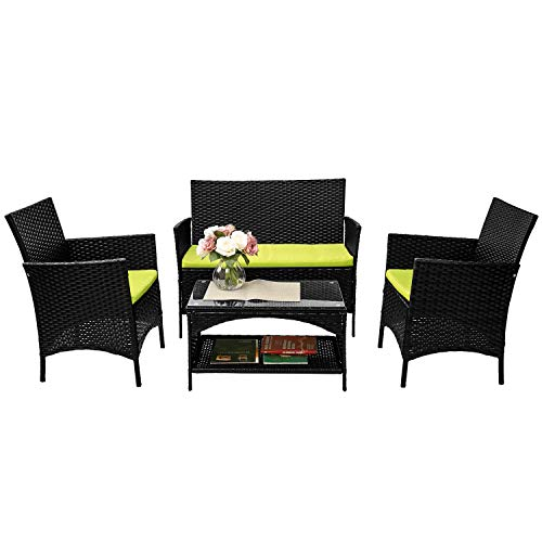 Merax Cushioned Patio Set Outdoor Cushioned Furniture