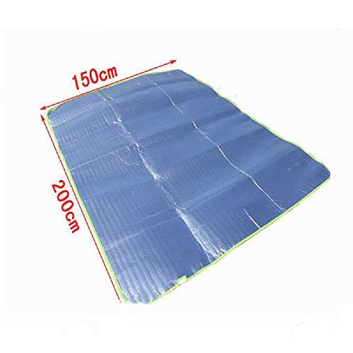 zhimeng Coussin Anti-humidité en Aluminium (200 * 150) Double Face en Aluminium Coussin Anti-humidité Pique-Nique Camp Tente Anti-humidité 150 * 200/Bleu.