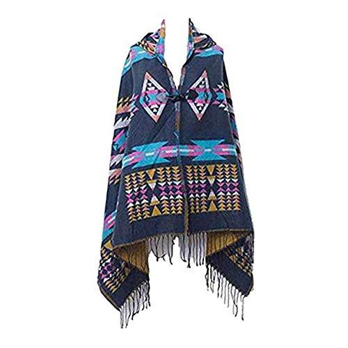 MeiPing Poncho de Mujer Suave para Invierno Cárdigan de Punto Capa de Tamaño Grande Elegante Calentito Diseño Simple