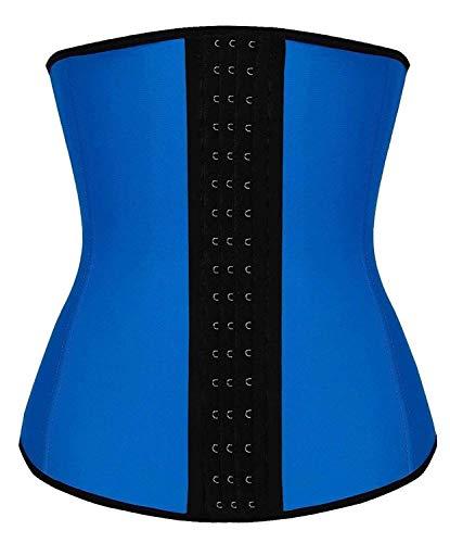 TwinsFlame Mujer Fajas Reductoras de Cinturón Formación para Cincher Underbust Bustiers Corsé, Azul, 5XL