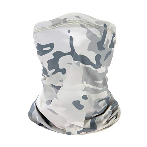 Sllrrka Ice Silk Fabric Headwear Face Mask Headband Neck Gaiter Multifunct for by Motorcycle, Mountaineering, Skiing, Outdoor sportsional (Camouflage White)