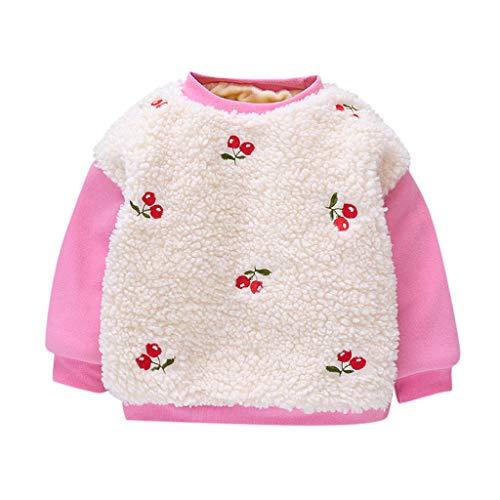 Sudadera de invierno para bebé de 0 a 24 meses, de Sunnymi, manga larga, con capucha, parte superior Rosa. 90 cm (XL)