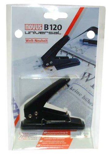 Novus B 120 - Perforadora (20 Hojas), Color Negro