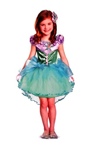 Disguise Disney Little Mermaid Ariel Deluxe Child Costume, Small/4-6x Teal