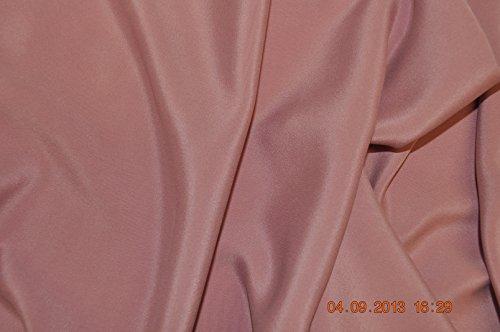 Reine Seide Doppelkrepp 108 cm Rose Meterware