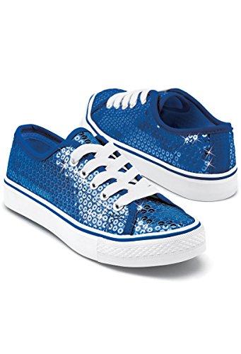 Balera Sequin Low Top Dance Sneakers Royal 7AM