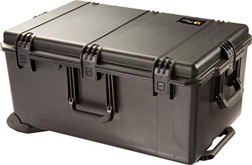 PELI Storm IM2975 Maleta de Transporte Grande con Ruedas y asa telescópica para Equipos electrónicos, Resistente al Agua, 118L de Capacidad, Fabricada en EE.UU, con Espuma Personalizable, Color Negro