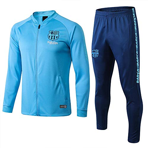 Team Competition Trainingspak Heren Jas en Broeken Voetbal Trainingspak Sportkleding Pak Blauw