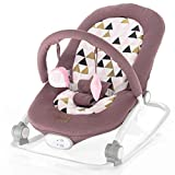 ZOPA Schaukelwippe RELAX - babywippe babyliege (Pink triangles)