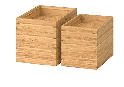 IKEA Dragon - Juego de cajas de bambú (2 piezas)