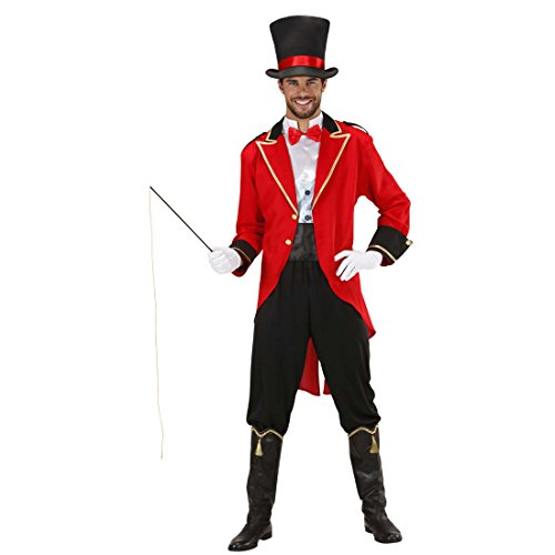 NET TOYS Zirkusdirektor Kostüm Dompteur Zirkuskostüm XL 54 Zirkusuniform Artistenkostüm Zirkus Herrenkostüm Jahrmarkt Herren Uniform Faschingskostüm Löwenbändiger Karnevalskostüm Männer