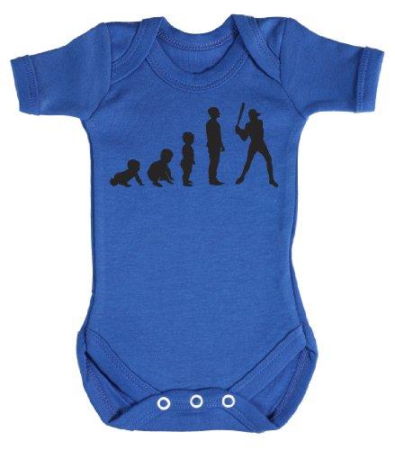 Baby Buddha - Evolution To A Baseball Player Body bébé 6-12 Mois Bleu