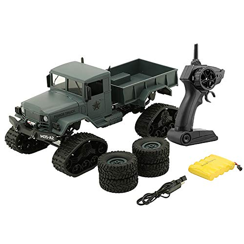 RC Military Truck Toy, RC Cars 2.4G Remote Control Electric Army1:16 4WD Tracked Wheels Crawler Off-Road Car RTR Vehicle Great Gift NEW for Children & Adults (Green)