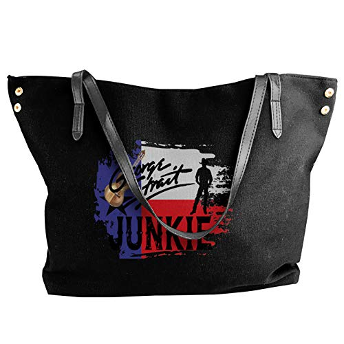 George Strait Junkie Women Style Canvas Large Tote Top Handle Bag Shopping Hobo Shoulder Bag, Large Size 18.1'' X 4.9'' X 12.99''