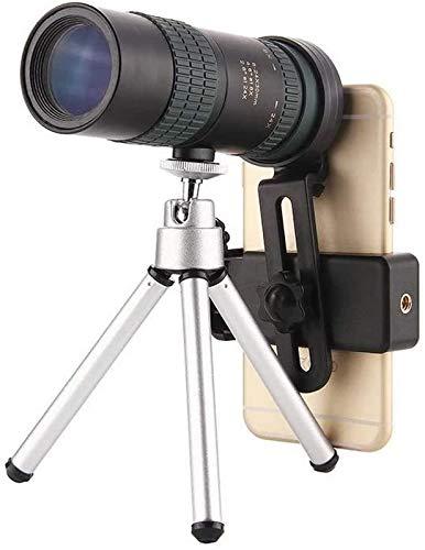 JJDSN Telescopio monocular para teléfono Inteligente 8-24x30 Zoom Telescopio monocular HD de Alta Potencia Soporte para visión Nocturna Diurna y Baja Equipado con un Soporte móvil Estable