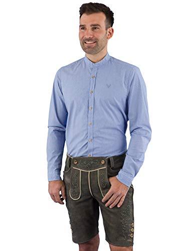 Pure Trachtenhemd Slim Fit C92601-21691 blau S