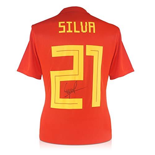 exclusivememorabilia.com Camiseta de fútbol de España 2018-19 firmada por David Silva