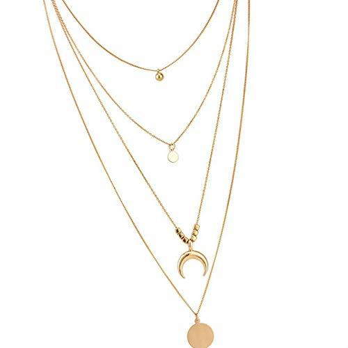 Retro vrouwen goud gelaagde kettingen gepersonaliseerde meisje gouden gelaagde choker, gepersonaliseerde eenvoudige stijl lange hanger ketting Boheemse geometrische choker set