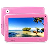 Aosituopu Kids Education Tablet PC with Bracket, 7.0 inch, 512MB+8GB, Android 4.4 Allwinner A33 Cortex A7 Processor, Support WiFi/Micro SD Card/G-Sensor (Color : Pink)
