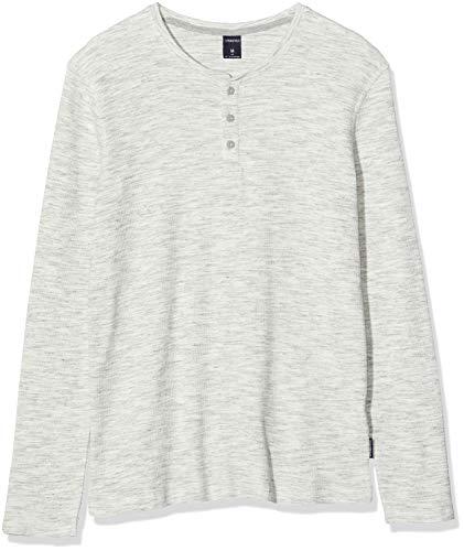 Springfield 04Av Ml Henley Texture Gr Camiseta, Gris (Grey 43), X-Small (Tamaño del Fabricante: XS) para Hombre