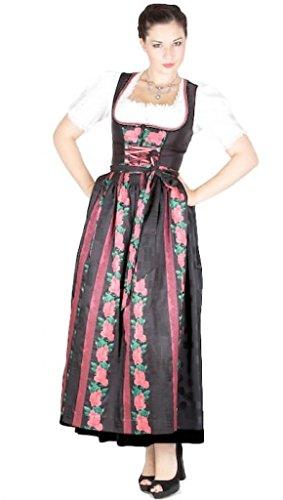 Krüger 10753 Manufaktur Dirndl 95er schwarz pink Size 36