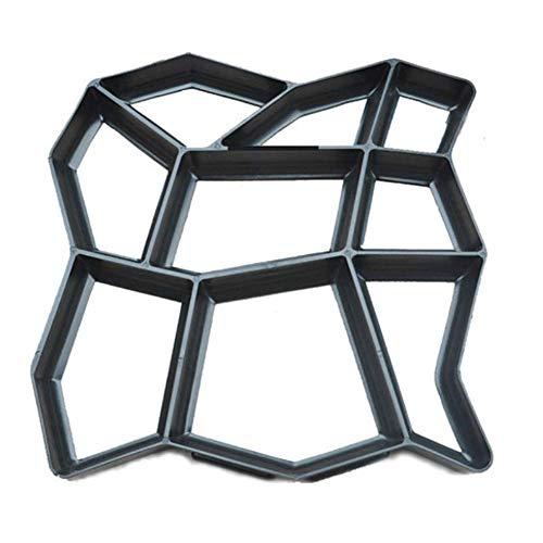 XIONGDA Pflasterstein Pfad Maker Schimmel, DIY Betonform, mittlere Pflastersteingang Schimmel Schimmel, Gartenterrasse Pflaster Schimmel Weg Maker (43 * 43 * 4 cm)