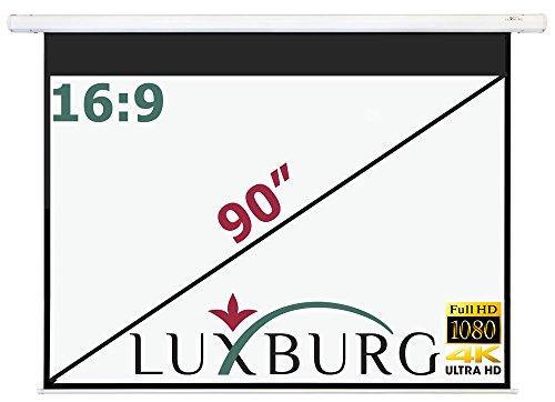 Luxburg® 100 inch Beamer canvas plafond montage / motorscherm met afstandsbediening / 203x152cm / glasvezel / formaat 4:3, 90