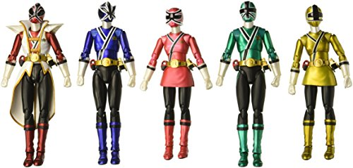 Bandai Tamashii Nations S.H. Figuarts Power Rangers Samurai SDCC 2013 Metallic Set of 5 Power Rangers Samurai Action Figure Set