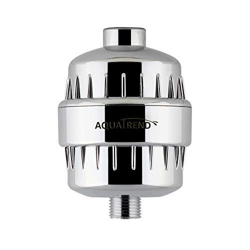 Aquatrend universale doccia filtro depuratore d' acqua ad alta efficienza con cartuccia sostituibile, bianco