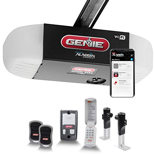 Genie QuietLift Connect – WiFi Smart Garage Door Opener with Added Wireless Keypad, ¾ HPC Smart Belt Drive – Compatible with Alexa and Google...