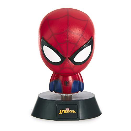 Paladone Luces de icono de Spiderman, ideales para dormitorios, oficinas y hogares, Multicolor