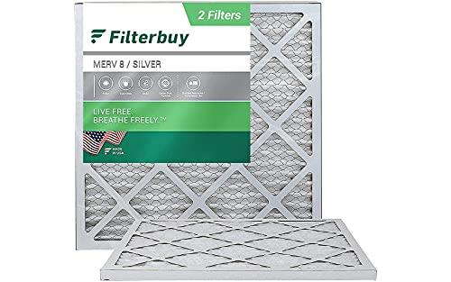 FilterBuy 20x20x1 Air Filter MERV 8, Pleated HVAC AC Furnace...