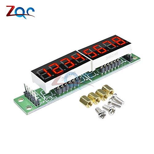 MAX7219 Módulo rojo Tubo de pantalla LED digital de 8 dígitos y 7 segmentos para Arduino MCU DIY KIT con tornillos