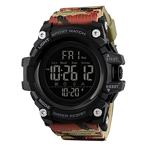 JTTM Reloj Digital Impermeable Multifunciones Deportivo Al Aire Libre Reloj Watch Man para Hombre Chicos Estudiantes,Camuflaje